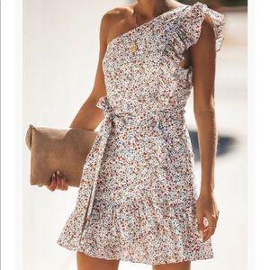 Vici Floral One Shoulder Dress